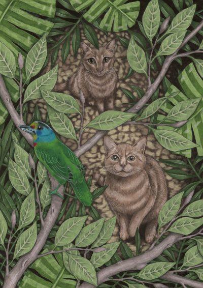 Poster Annelies Baaijens Zeeland Illustrator Kunst 400x566 - Animals